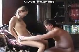Hot girl gets a facial from older man.
