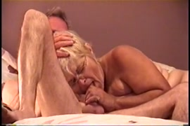 Amateur hotwife riding his cock in the bed.
