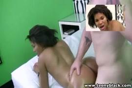 Bubble butt ebony teen gets fucked from behind.