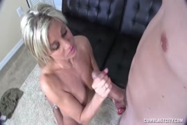 Big cock gets cumshot on chest and back part2.