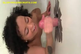 Sexy young ebony chick fucked by big white cock.
