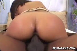 Babe in pink dress and stockings fucked by huge cock before facial.