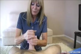 Cute blonde milf sucking and fucking with a huge cumshot.