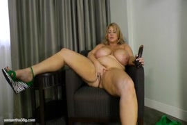 Sissy slut fucks herself with a dildo and licks it out.