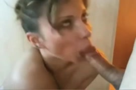 My exs wife gives me a blowjob.