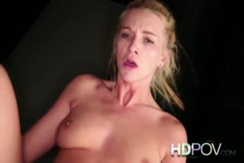 Sexy blonde with natural tits loves to ride dick.